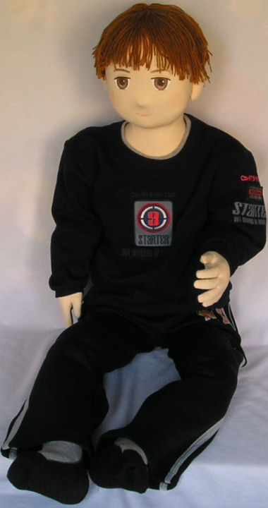 Boy Doll In Black Sweats