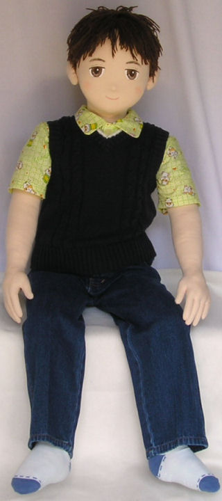 Boy Doll In Knit Vest